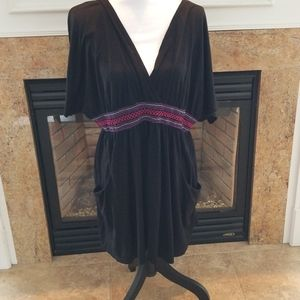 CATALINA BLACK SWIMSUIT COVER UP NEW 2XX